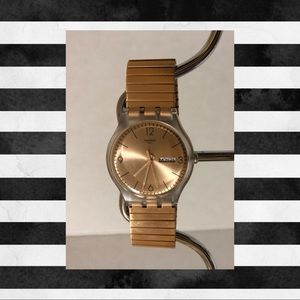Swatch Rose Gold Dial Unisex Watch